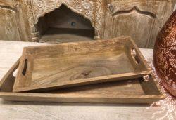 Dienblad | Mangohout | Serveerplank | Oosters kado | Duurzaam hout