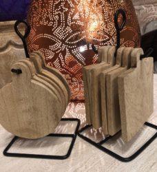 Oosterse onderzetters | Mangohout | Duurzame onderzetters | Oosters interieur | Marokkaanse meubelen