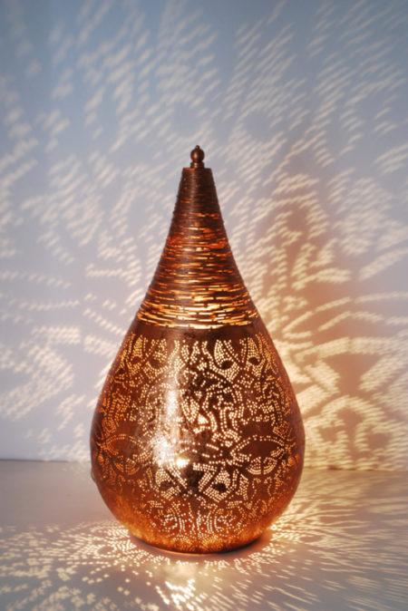 Oosterse tafellamp | Filigrain | Vintage koper | Marokkaanse lampen | Amsterdam