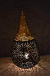 Oosterse tafellamp | Vintage goud/zwart | Oosterse lampen | Marokkaans interieur | Amsterdam
