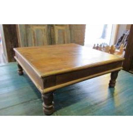 Oosters bijzettafeltje teakhout   Oosterse meubelen   India tafels   Teakhout   Kalini