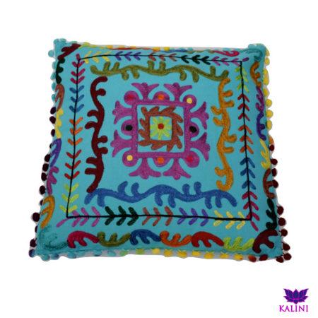 Oosters sierkussen | Marokkaanse kussens | Kleurrijk Oosters interieur | Goede prijzen | Handgemaakt | Blauw | India kussen | Arabisch interieur | Kalini