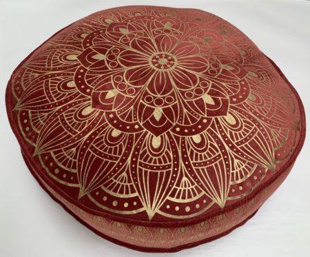 Oosters vloerkussen | rood | Lotus | Marokkaanse kussens en poefen | Arabische inrichting | Moderne Oosterse kussens online