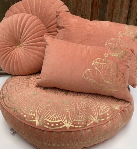 Oosters vloerkussen | Oud roze | Lotus | Marokkaanse kussens | Arabisch vloerkussen | Moderne Oosterse poef