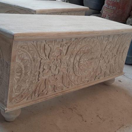 Oosterse coffee table | Opbergkist | Oosterse meubelen | Houtsnijwerk | Eigen import | Beste prijzen | Kalini
