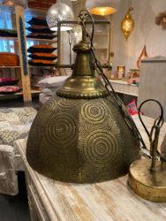 Oosterse hanglamp   Marokkaanse lampen   Bronskleurig   Oosterse verlichting   Sfeervol interieur   Oosterse lamp metaal gaatjes   Aanbieding op=op