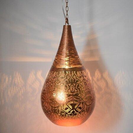 Oosterse hanglamp | filigrain | Druppel | Oosterse lampen | Koper | Marokkaanse lampen