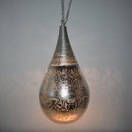 Oosterse hanglamp | Filigrain | Oosterse lampen | Marokkaanse lamp | Zilver | Moderne Oosterse lampen