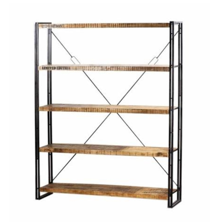 Industriële boekenkast | Aanbieding | Kalini | Robuuste stoere meubelen | Beste prijzen | Moderne stevige meubelen | Metaal en hout
