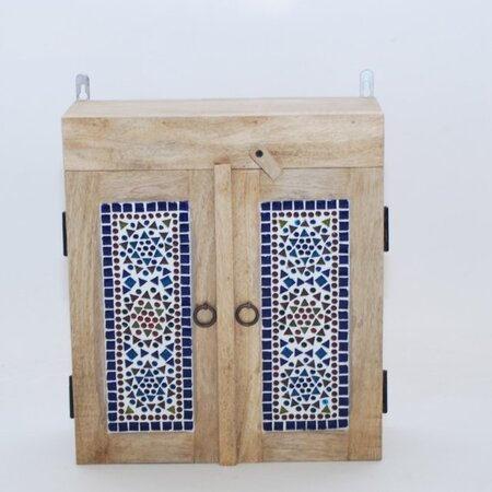 Oosters badkamerkastje | Transparant | Mozaïek | Oosterse kasten | Oosters meubel | Massief hout | Badkamer | Oosterse inrichting | Mozaïek meubelen