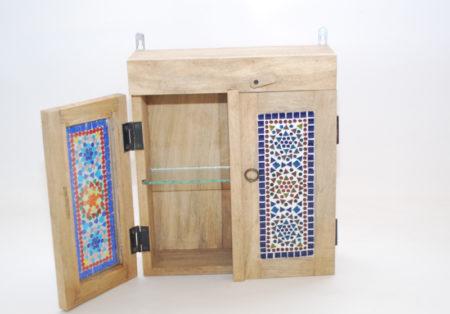 Oosters badkamerkastje | Mozaïek | Oosterse kasten | Klein Oosters kastje | Badkamer | Indiase meubelen | Kalini | Beste Prijzen