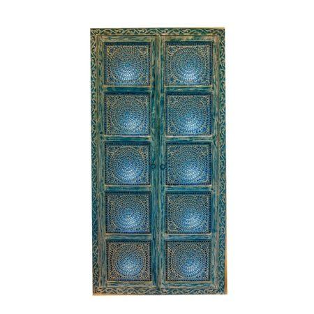 Oosterse kast   Oosterse meubelen   Blauwe kast   Mozaiek   2 deurs kasten   Kalini