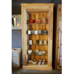 Oosterse vitrinekast | Sheesam hout | Massief | 4 glazen platen | Oosterse kast | Hoge kast | België & Nederland
