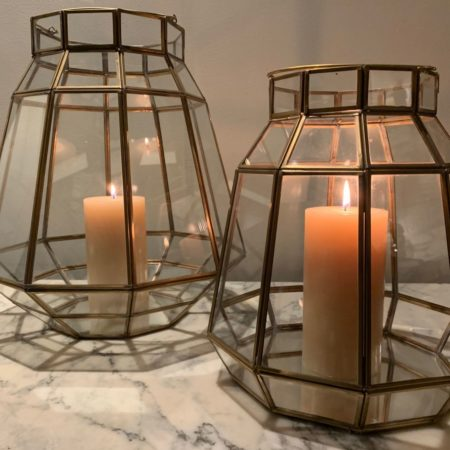 Oosters lantaarn | Arabisch windlicht | Oosterse windlichten | Tuin | Terras | Balkon | Transparant | Matt goud | Kalini