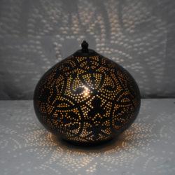 Oosterse tafellamp   Marokkaanse lamp   Zwart   Goud   Filigrain   Oosterse lampen