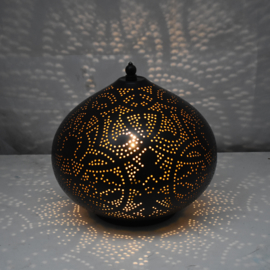 Oosterse tafellamp | Marokkaanse lamp | Zwart | Goud | Filigrain | Oosterse lampen