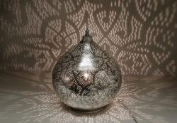 Oosterse tafellamp | Arabisch filigrain | Marokkaanse tafellamp | Vintage zilver | Oosterse lampen