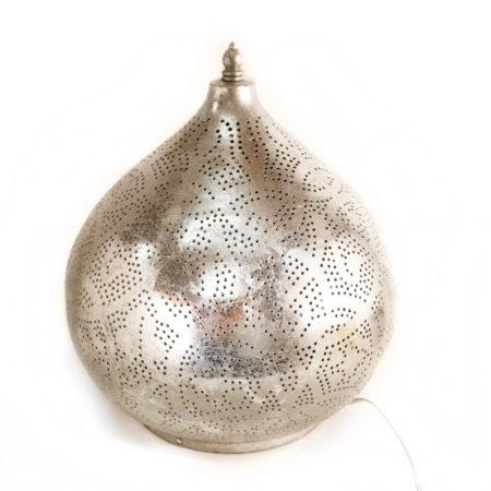 Oosterse tafellamp   Vintage zilver   Arabische tafellamp   Metaal  Vintage zilver   Gaatjes lamp   Marokkaanse lamp   Oosterse lamp   Oosterse lampen   Oosterse sfeerverlichting