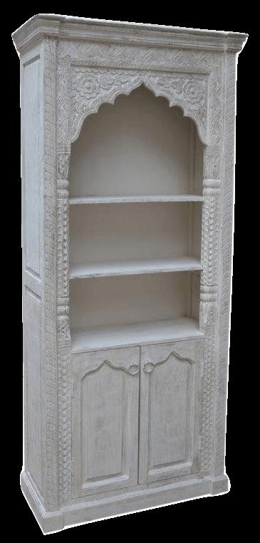 Oosterse kast | Marokkaanse meubels | Oosterse kasten online | whitewash | Moderne Marokkaanse kasten | Houtsnijwerk | Kalini | Online