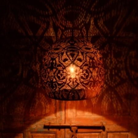 Oosterse lampen | Marokkaanse lamp | Arabische verlichting | Metaal | Gaatjes lamp | Oosterse hanglamp