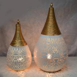Oosterse tafellamp | filigrain | Wit | Goud | Arabische tafellampen | Oosters interieur | Kalini | Oosterse verlichting | Sfeerverlichting