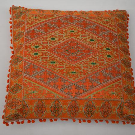 Oosters sierkussen | Oranje | Borduurkussen | Arabische kussens