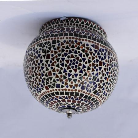 Oosterse plafonnière | Glasmozaïek | Mozaïek lamp | Oosterse lampen | Marokkaanse plafondlamp | Arabische plafonnière | Multi-colour