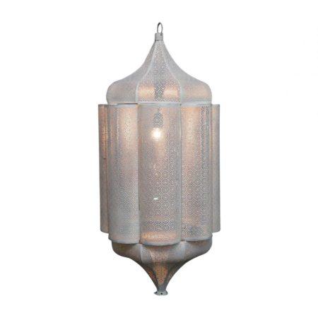 Oosterse hanglamp | Marrakech lamp | Wit goud | Oosterse verlichting | Oosterse lamp | Arabische hanglamp | Marokkaanse lampen | Kalini