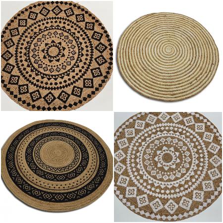 Oosters vloerkleed | Arabische tapijten | Rond vloerkleed | Marokkaans interieur | Oosterse meubels | Kalini