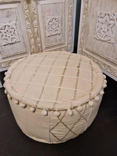 Oosterse poef Pure | Nieuw bij Kalini 100% katoen | Handmade | Eigen import beste prijzen | Oosterse kussens en poefen online | Oosterse inrichting