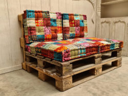 Oosterse palletkussens set | Patchwork multi colour | Palletbank kussens | Lounge kussens | Kalini