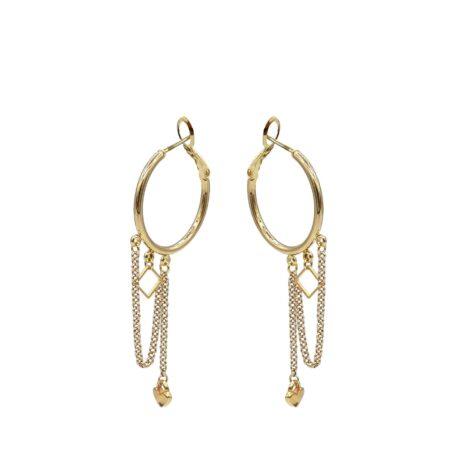Oorhangers | Gold | Kalini | Sieraden | Handgemaakt | Luxe exclusieve sieraden voor haar voor een vriendelijke prijs