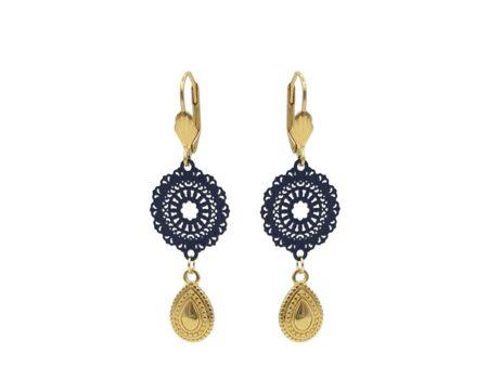 Oorbellen | Oosterse sieraden | Kalini | Handgemaakt | Oorbellen voor haar