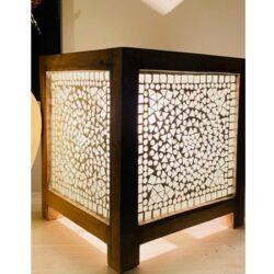 Oosterse tafellamp mozaiek transparant Oosterse lampen