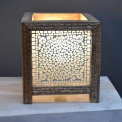Oosterse tafellamp | Mozaiek lamp | Arabische tafellampen | Kalini | Oosterse lamp | Tafellamp | Glasmozaïek | Vierkante tafellamp