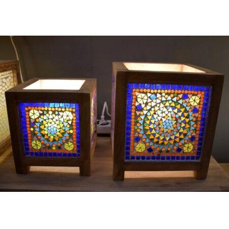 Oosterse tafellamp | Multi-colour | Glasmozaiek | Oosterse lampen | Tafellampen | Sfeerverlichting | Scherpe prijzen snelle levering
